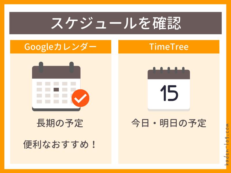 Amazon Echo show 5はスケジュールを確認できる