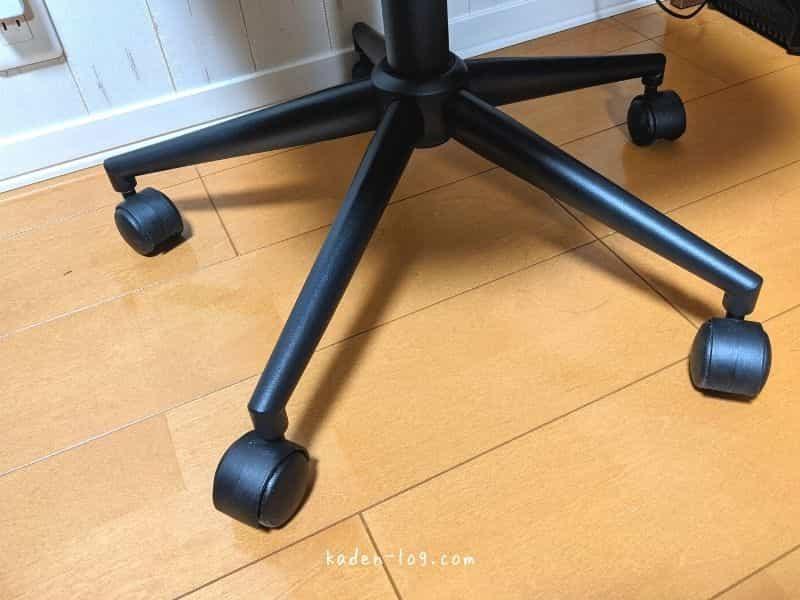 マッサージチェア マイリラMRL-1100はキャスター付きの椅子には固定できない