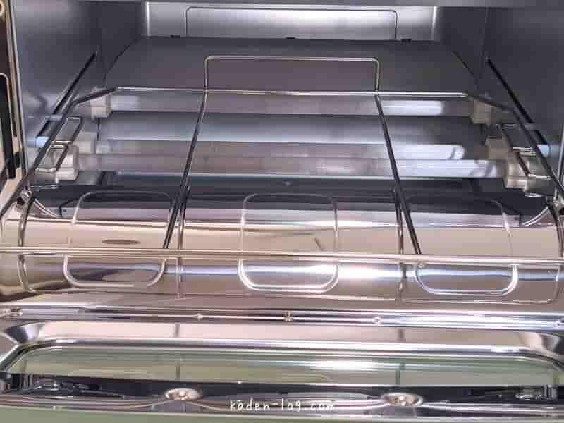 アラジン グラファイトトースターは下部に3本のヒーターが付属