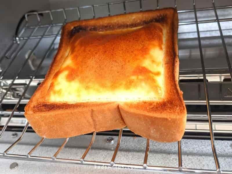 バルミューダ トースターはパンは焦げずにふんわりチーズが程よくこんがり焼ける