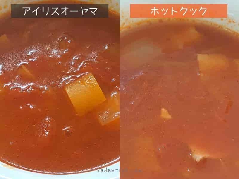 アイリスオーヤマ電気圧力鍋とホットクックでミネストローネの美味しさを比較