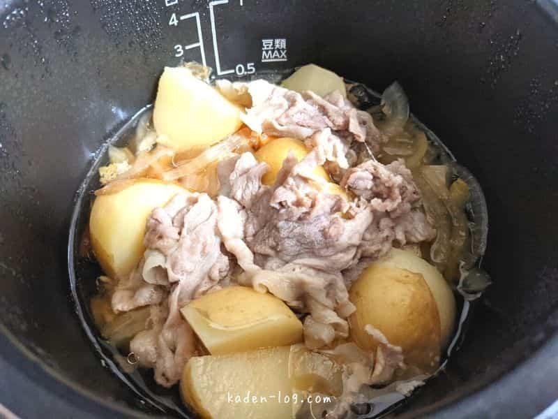 電気圧力鍋Re・De Pot(リデポット)で作った肉じゃがレシピ