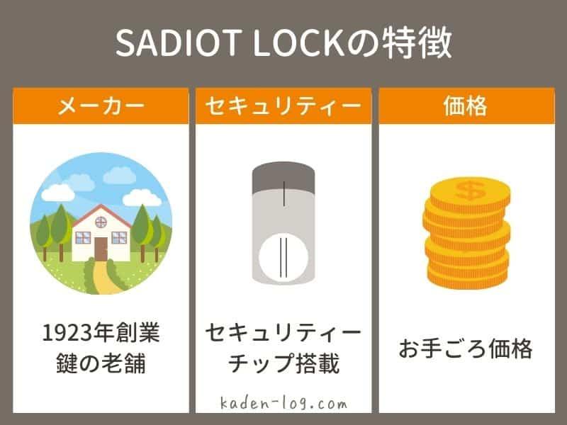 SADIOT LOCK(サディオロック)は価格が安い