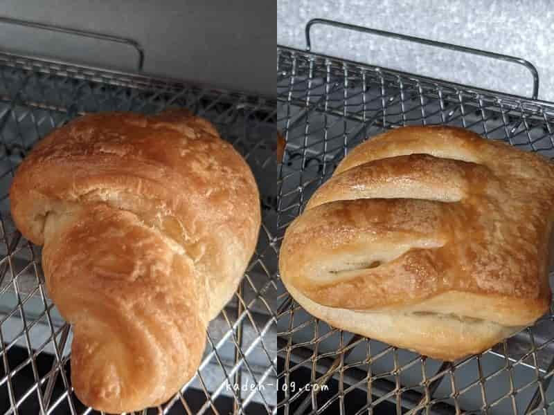 siroca(シロカ)のトースターすばやきのクロワッサンモードの焼き加減はイマイチ