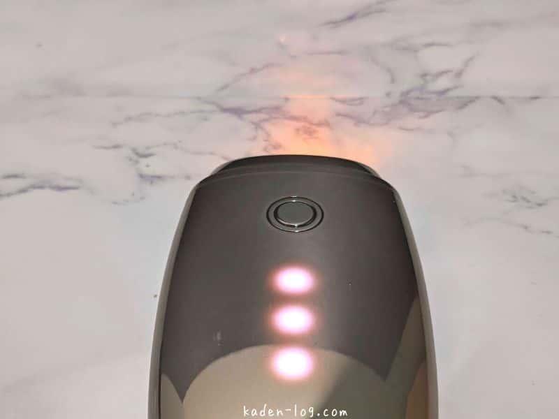 アーリーバードの美顔器FacePump(フェイスポンプ)は3段階で出力レベルを調整できる