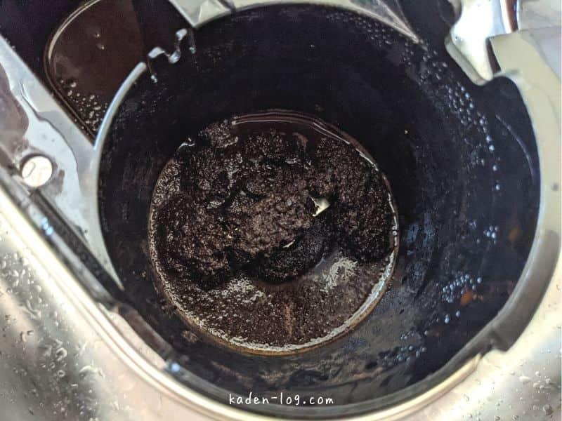 siroca(シロカ)のコーヒーメーカー カフェばこはミル部分が洗いにくい